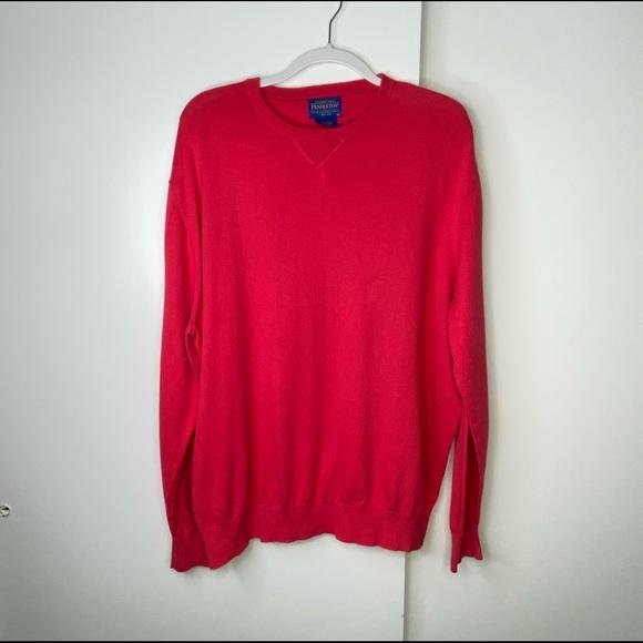 Pendleton Crewneck Cashmere Sweater Long Sleeve XL
